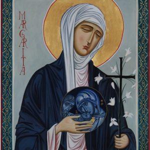 Icona di Santa Margherita realizzata da don Paolo Martinelli